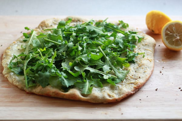 Lemon Arugula Pizza from Two Peas and Their Pod