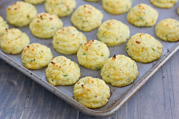 Trimmed Down Cheddar and Chive Duchess Potatoes