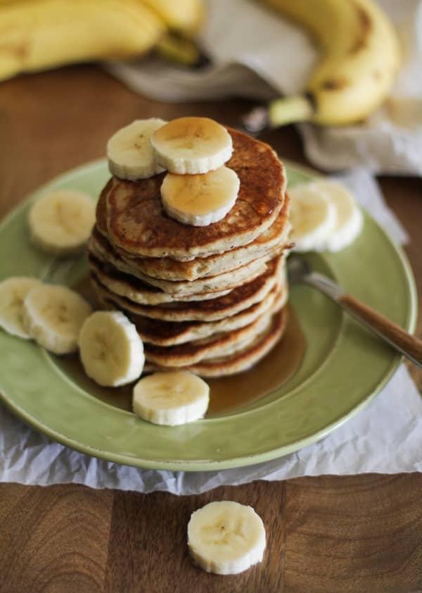Gluten Free Vegan Banana Silver Dollar Pancakes