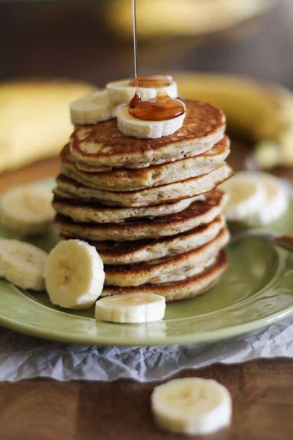 Gluten-Free Vegan Banana Silver Dollar Pancakes