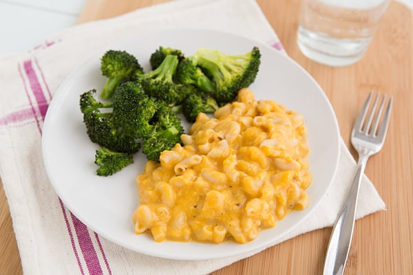 Healthy Mac & Cheese + Roasted Broccoli
