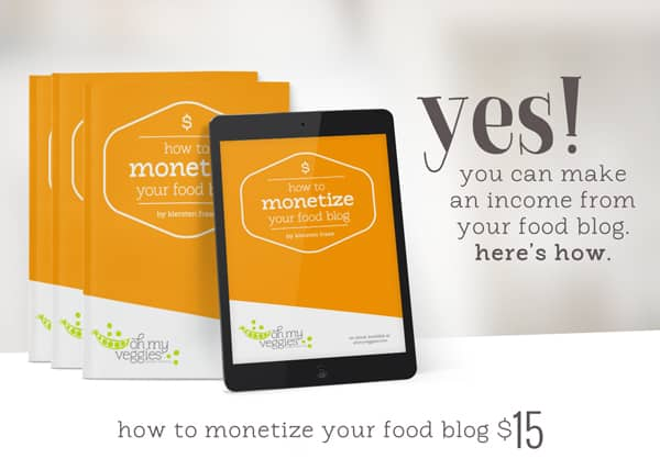 How to Monetize Your Food Blog E-Book