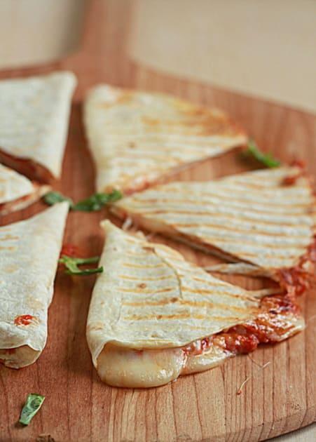 Four Cheese Pizza Quesadillas