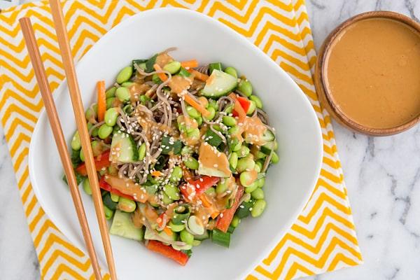 Thai Peanut Empowered Noodle Bowl