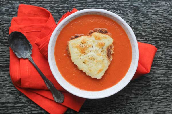 Tomato Soup and Grilled Cheese Toasts by Aida Mollenkamp