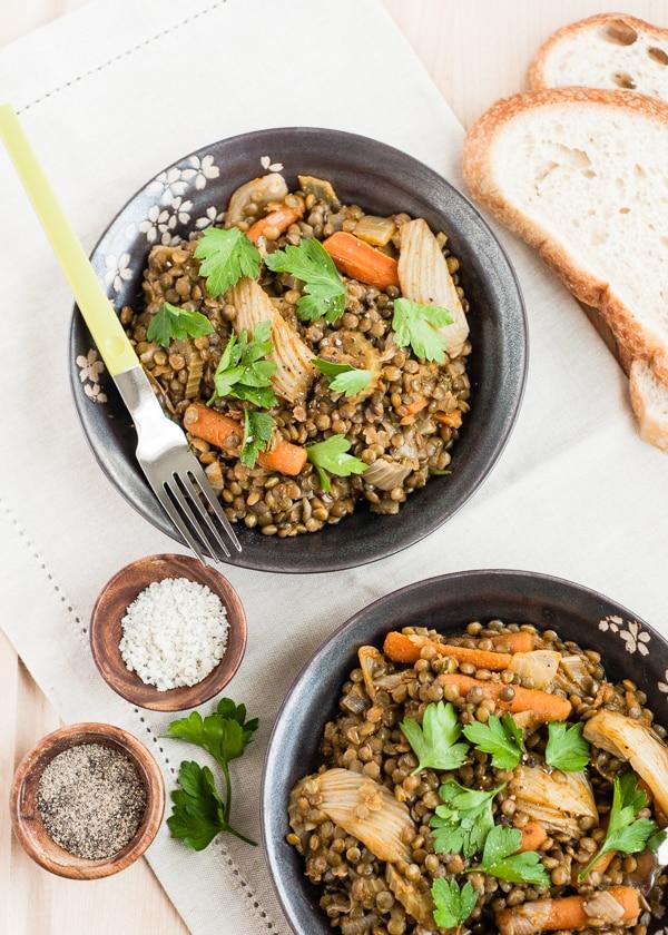Braised Lentils & Vegetables