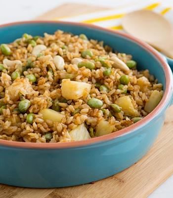 Baked Fried Brown Rice