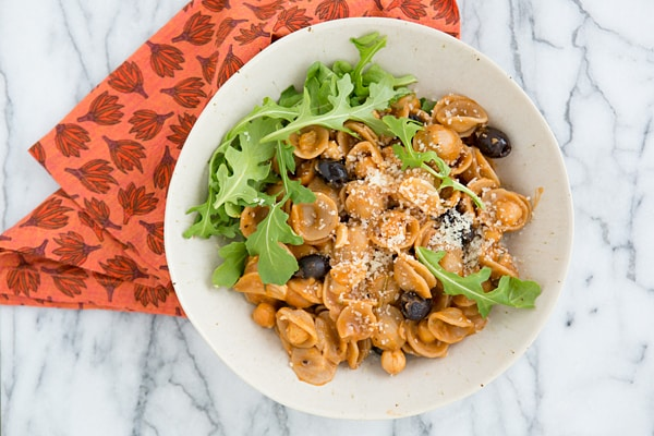 One-Pan Orecchiette with Chickpeas & Olives