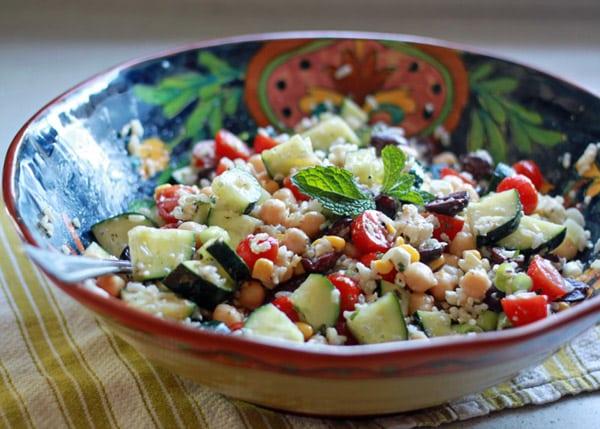 Brown Rice Greek Salad