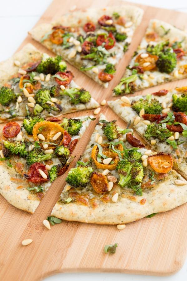 Roasted Broccoli & Sun-Dried Tomato Pizza