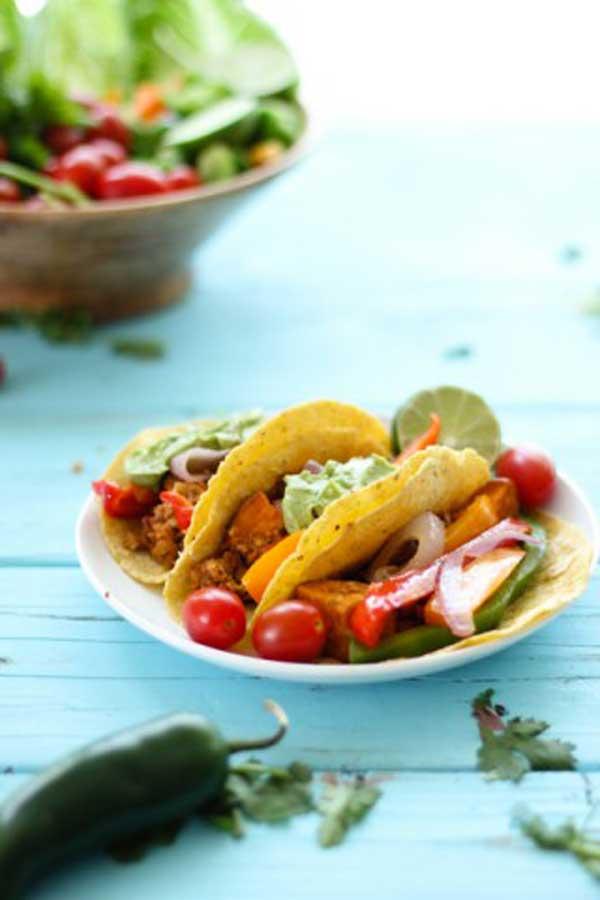 Spring Veggie Tacos With Avocado Cream