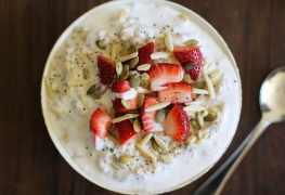 Vegan Strawberry Oatmeal Breakfast Bowls Recipe from Oh My Veggies!