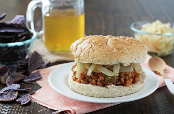 Chipotle Peach BBQ Farro Sandwiches