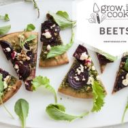 Beet Green Pesto Pizza