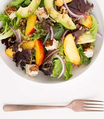 Nectarine and Avocado Salad with Ginger-Lime Dressing