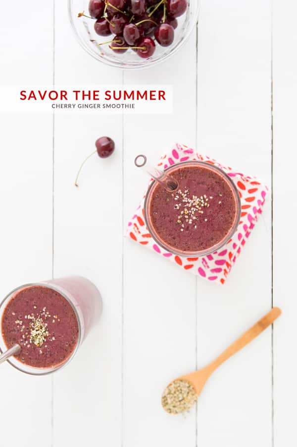 Cherry Ginger Smoothie