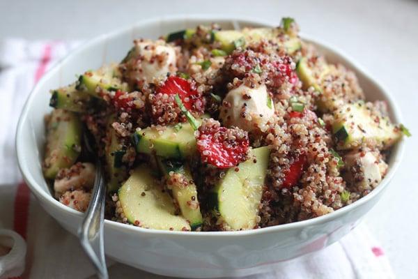Strawberry Quinoa Balsamic Salad