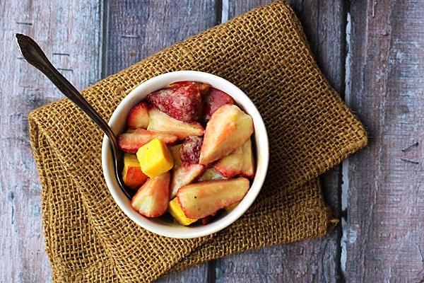 Summer Fruit Salad with Matcha Ginger Vinaigrette