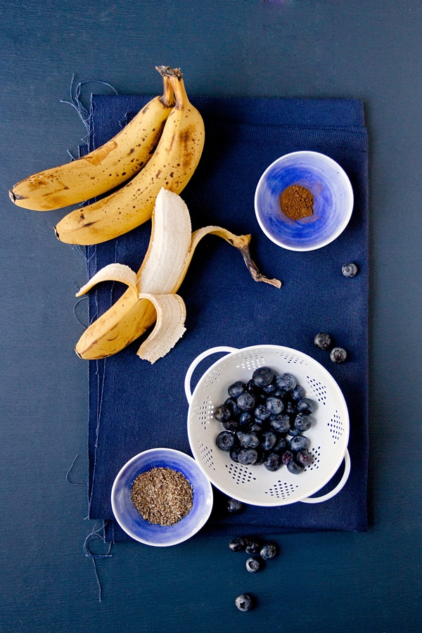 Vegan Blueberry Banana Bread Ingredients