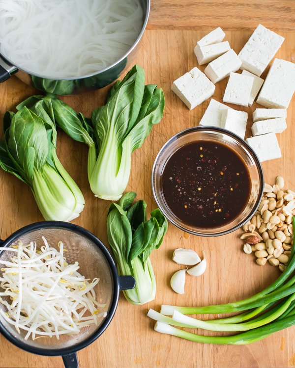 Veggie Pad Thai Ingredients