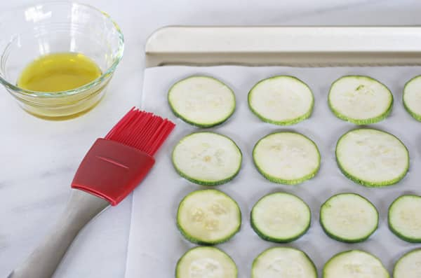 Brush Zucchini with Olive Oil