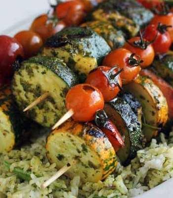 Chermoula Veggie Kebabs