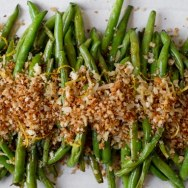 Green Beans with Lemon Parmesan Panko