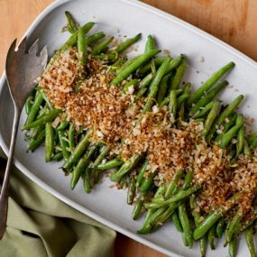 Green Beans with Lemon Parmesan Panko Recipe