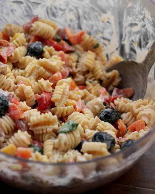 Heirloom Tomato Pasta Salad