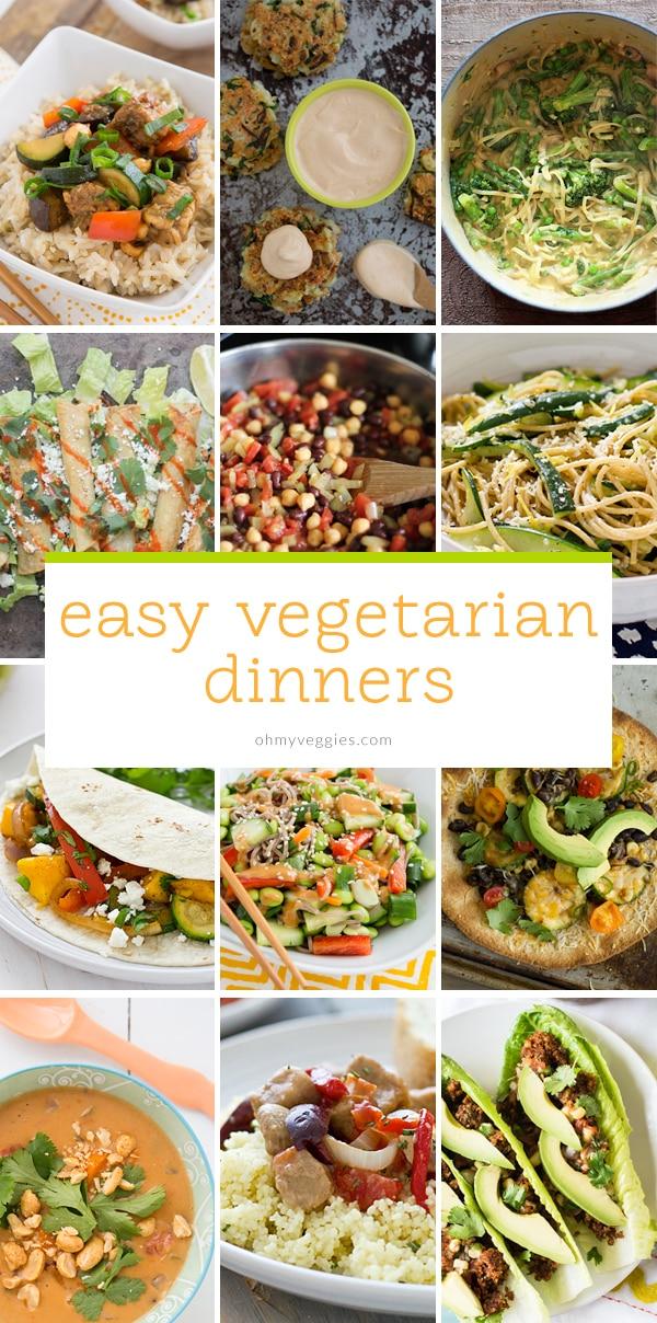 Easy Vegetarian Dinners