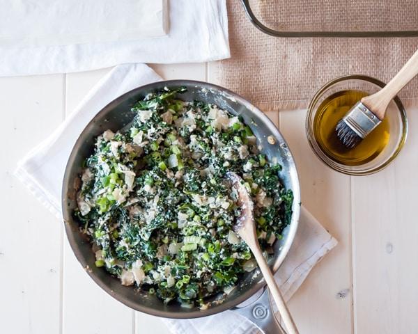 Kale Spanakopita Filling