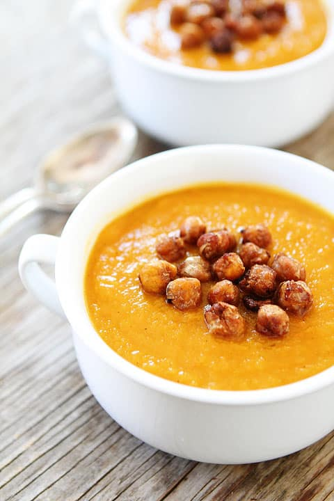 Slow Cooker Butternut Squash Soup from Two Peas & Their Pod