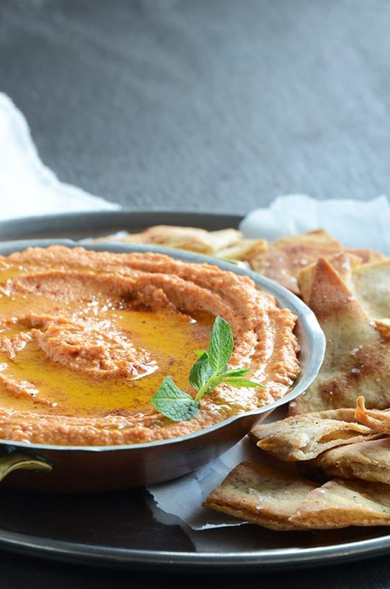 Smoky Red Pepper Hummus