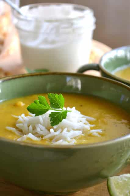Chana Dal and Yellow Pepper Soup