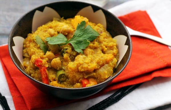 One-Pot Curried Quinoa with Butternut Squash & Chickpeas
