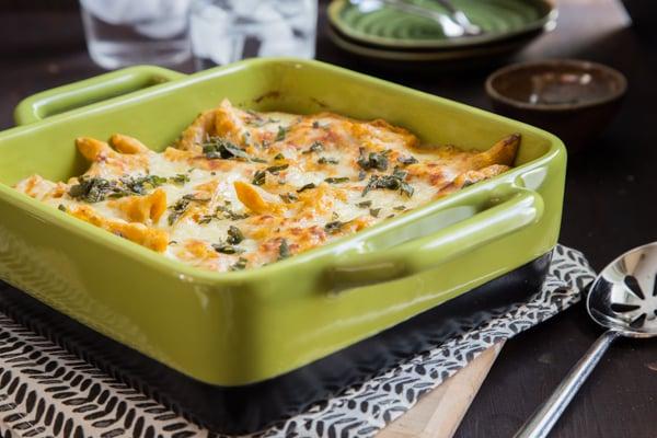 Pumpkin-Sage Baked Ziti Recipe