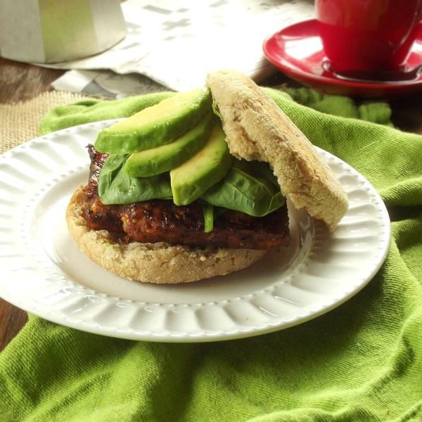 Savory Tempeh Breakfast Sandwiches