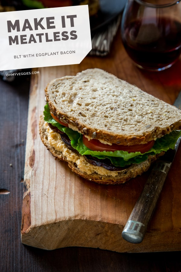 Vegan BLT with Eggplant Bacon