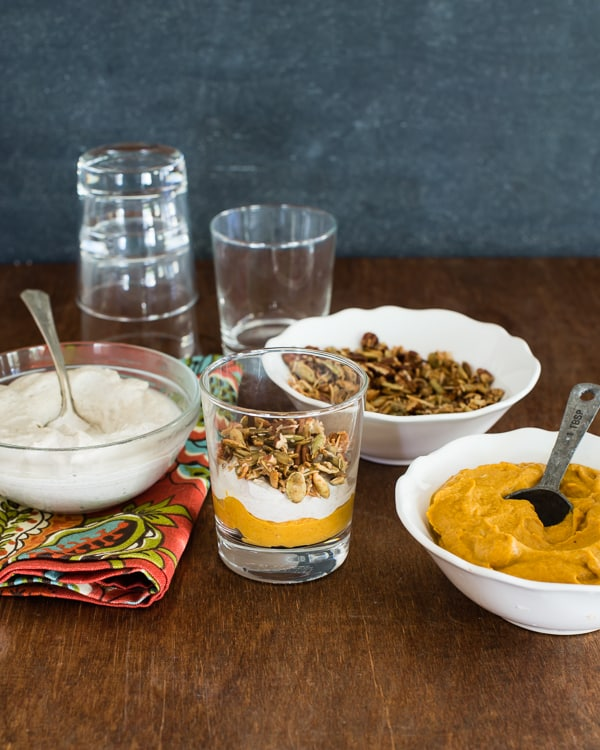 Vegan Maple Pumpkin Parfaits