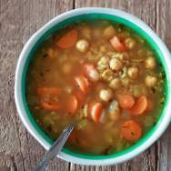 Chickpea & Rice Soup from Kitchen Treaty