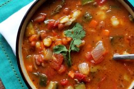 Vegetarian Posole with Pinto Beans & Poblano Pepper OhMyVeggies.com