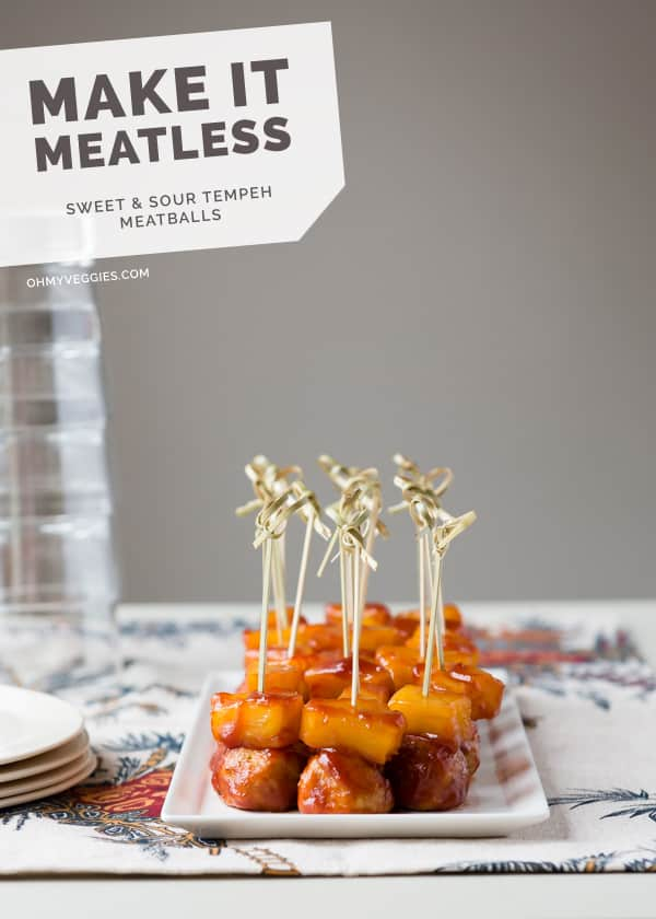 Sweet and Sour Tempeh Meatballs