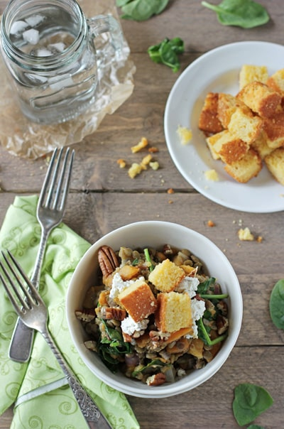 Fall Lentil Salad with Butternut Squash & Goat Cheese