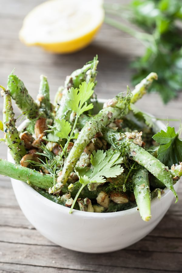 Green Bean Salad with Tahini Dressing