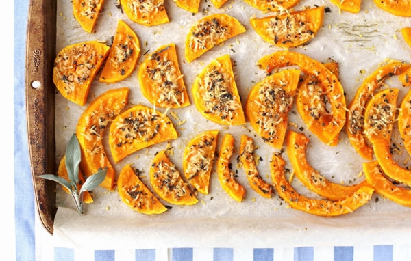 Parmesan-Sage Crusted Butternut Squash