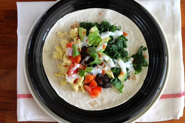 Kale and Black Bean Breakfast Tacos