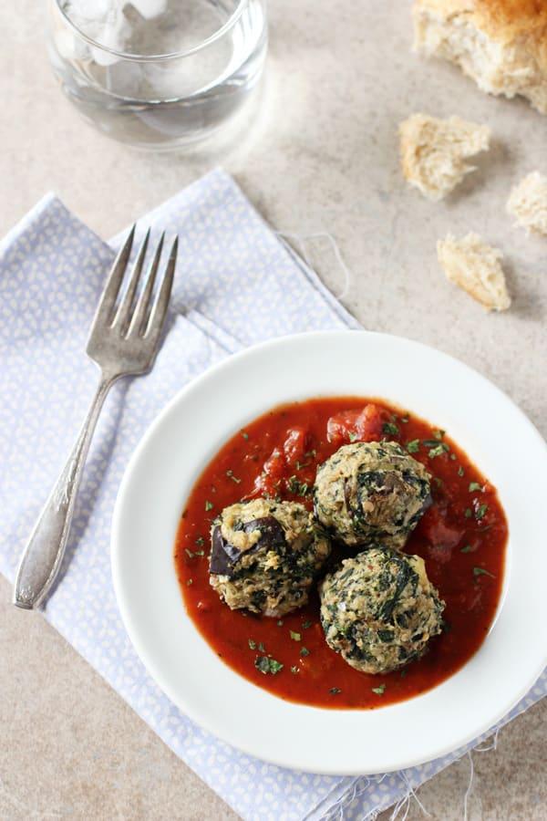 Eggplant Spinach Meatballs