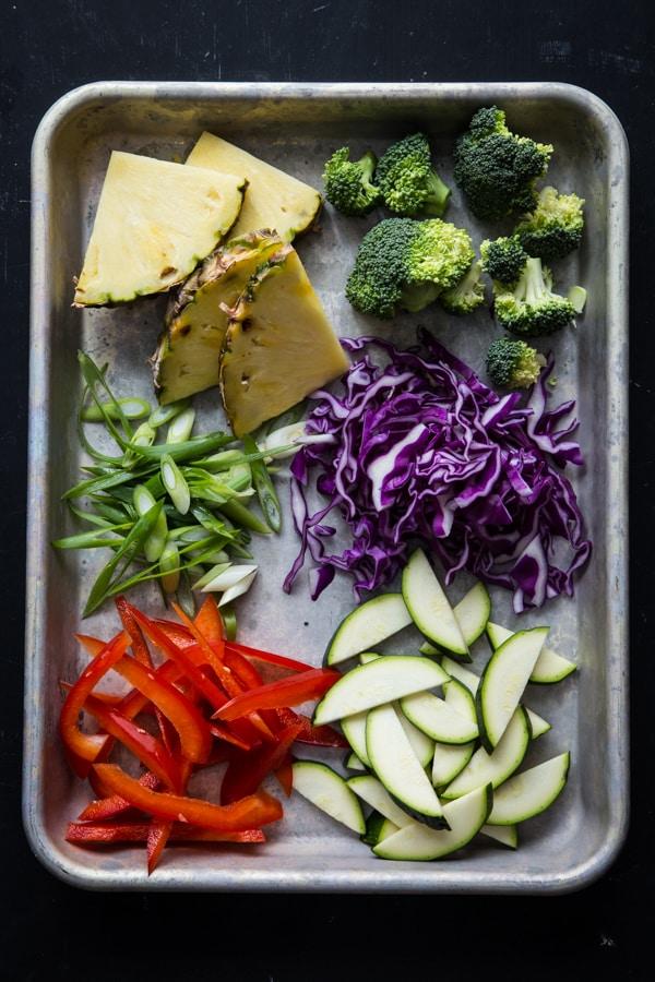 Korean Barbecue Tofu Bowls with Stir-Fried Veggies & Quinoa