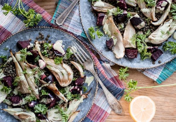 Roasted Fennel and Beet Salad