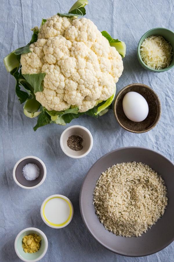 Crispy Parmesan Cauliflower Steak Ingredients